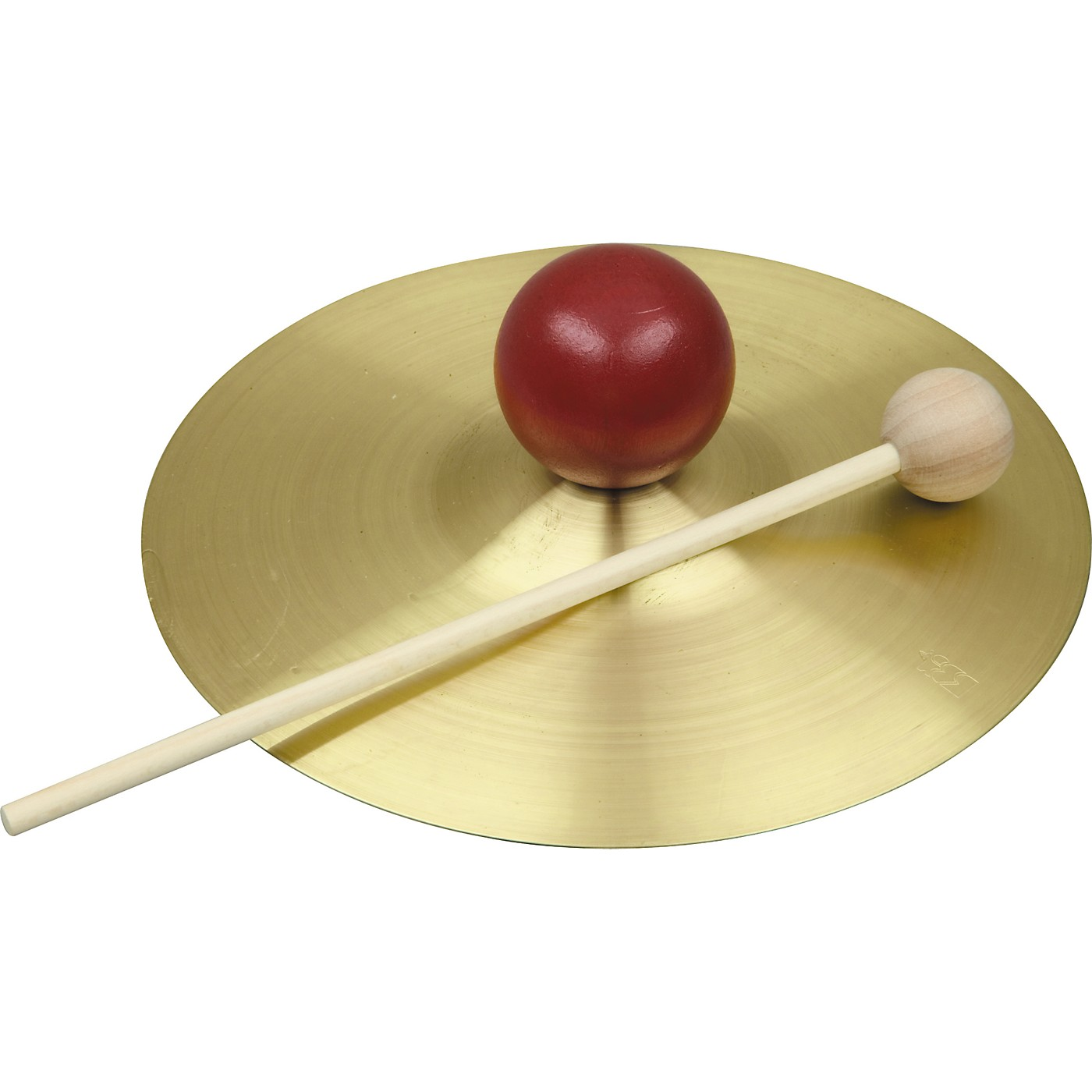 Rhythm Band RB733S Solid Brass Cymbal with Knob and Mallet thumbnail