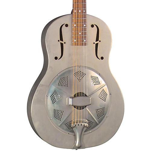 Regal RC-43 Antiqued Nickel-Plated Body Triolian Resonator Guitar thumbnail