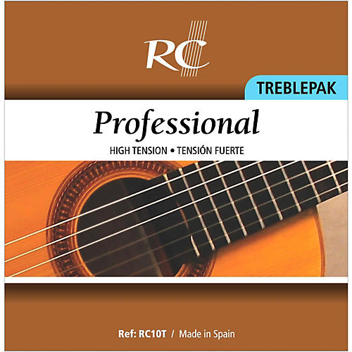 RC Strings RC10T Professional Treblepak - Hard Tension 1st, 2nd and 3rd strings for Nylon String Guitar thumbnail