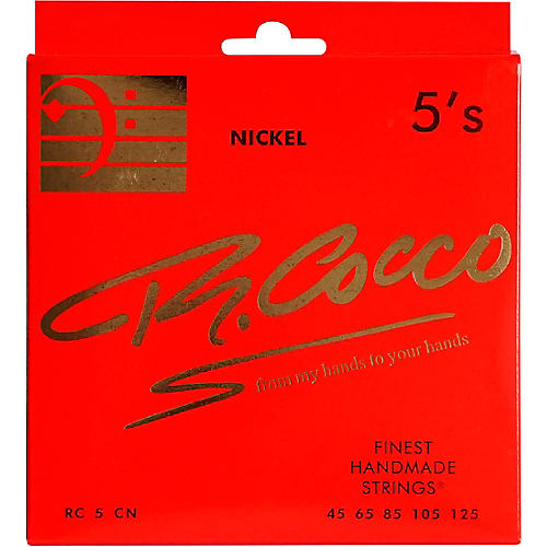 Richard Cocco RC5CN 5-String Nickel Electric Bass Guitar Strings thumbnail