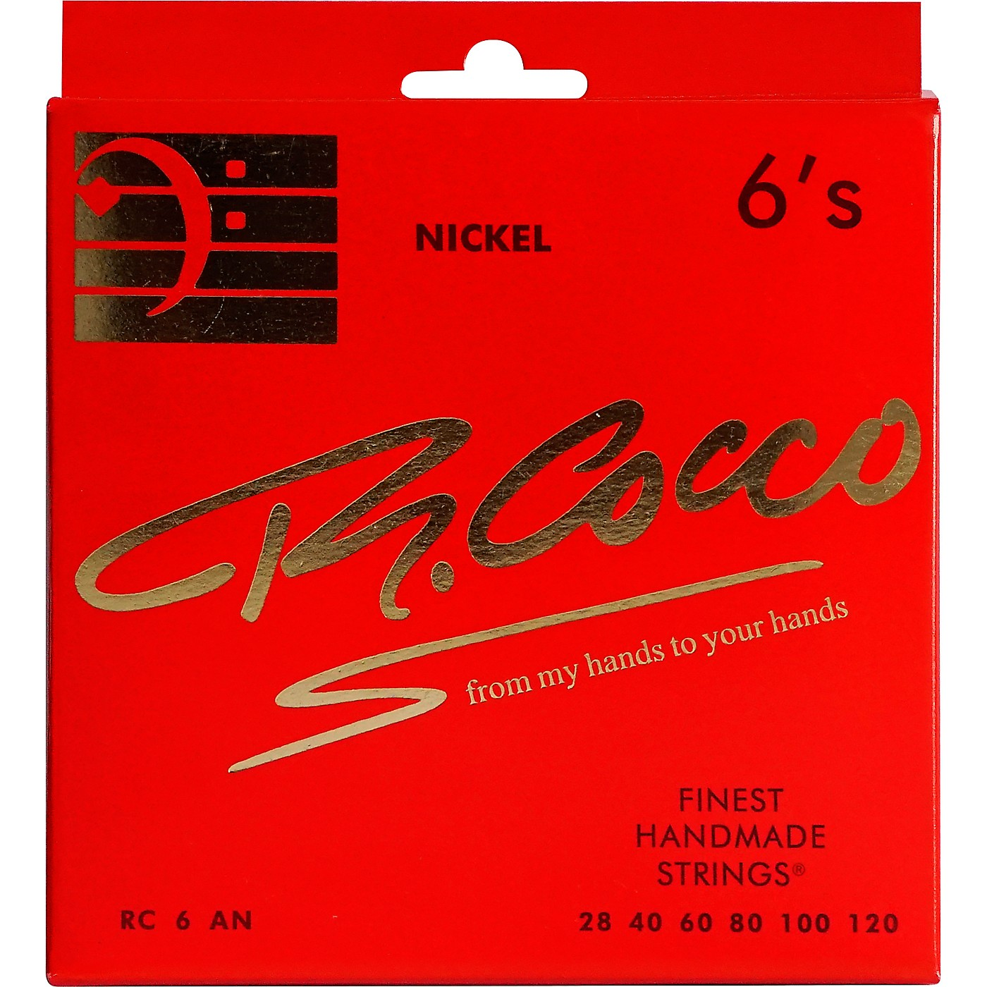 Richard Cocco RC6AN 6-String Nickel Electric Bass Guitar Strings thumbnail