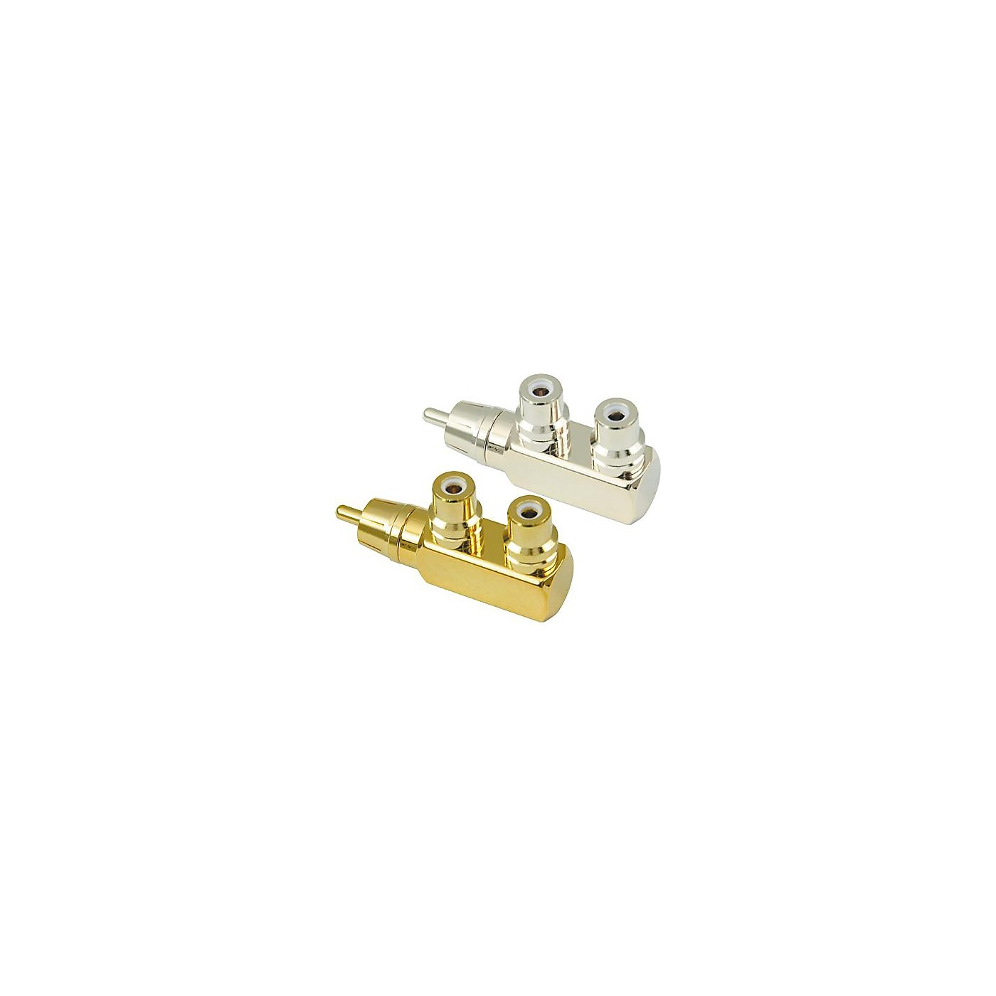 American Recorder Technologies RCA Male to 2 RCA Female Right Angle Adapter thumbnail