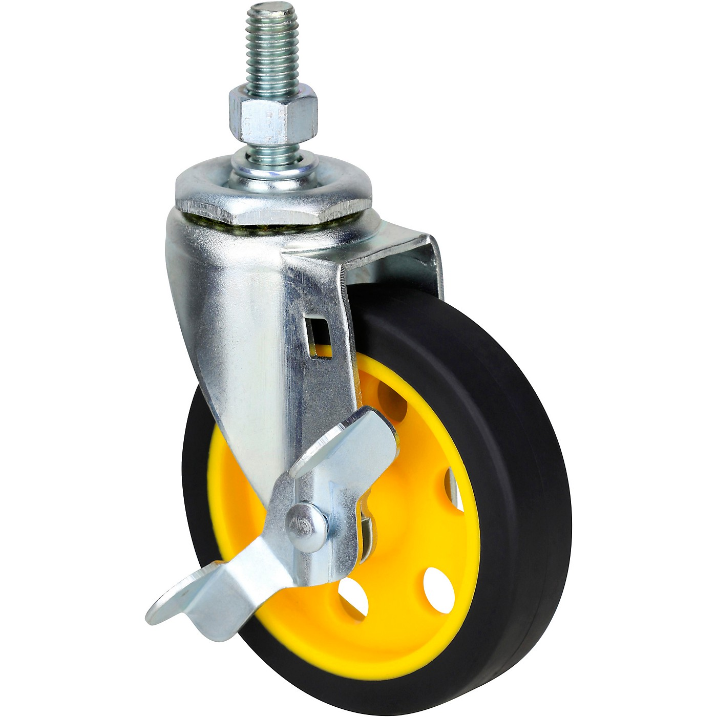Rock N Roller RCSTR4X1 4-in. G-Force Caster With Brake for R2, R6 Carts - 2-Pack thumbnail