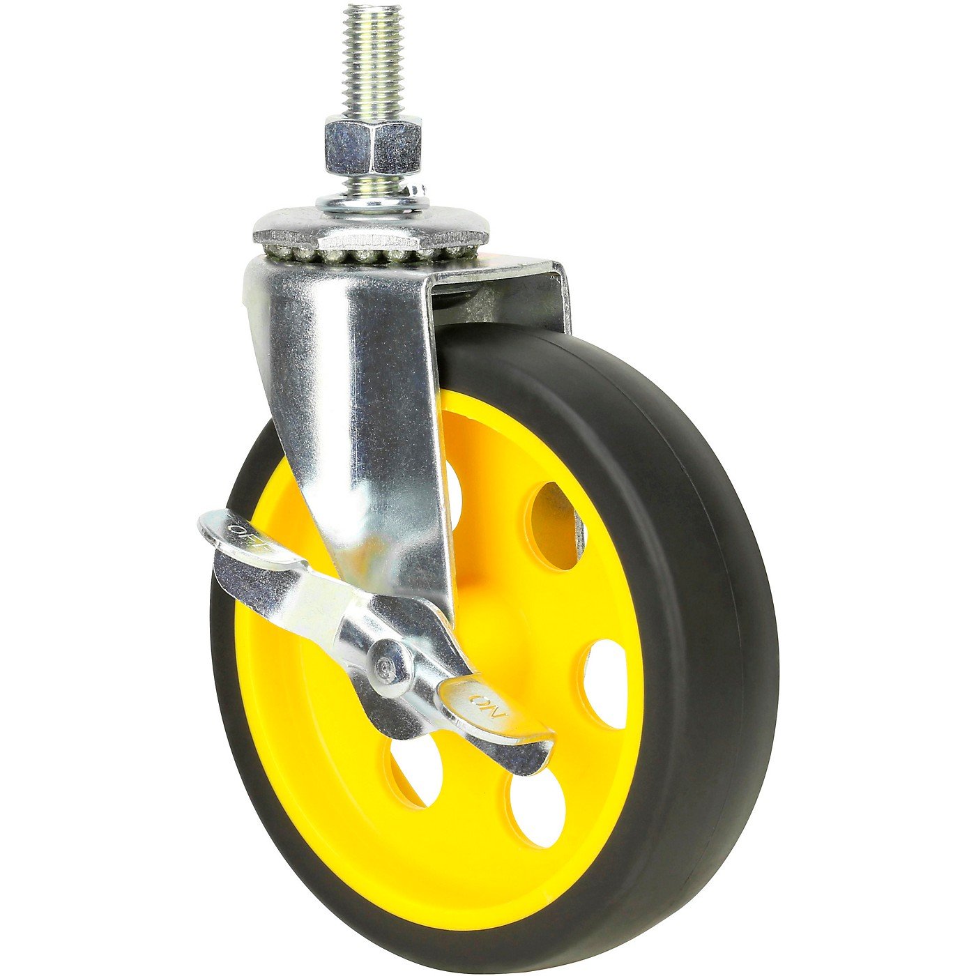 Rock N Roller RCSTR5X125 5in. G-Force Caster with Brake For R8, R10 Carts - 2-Pack thumbnail