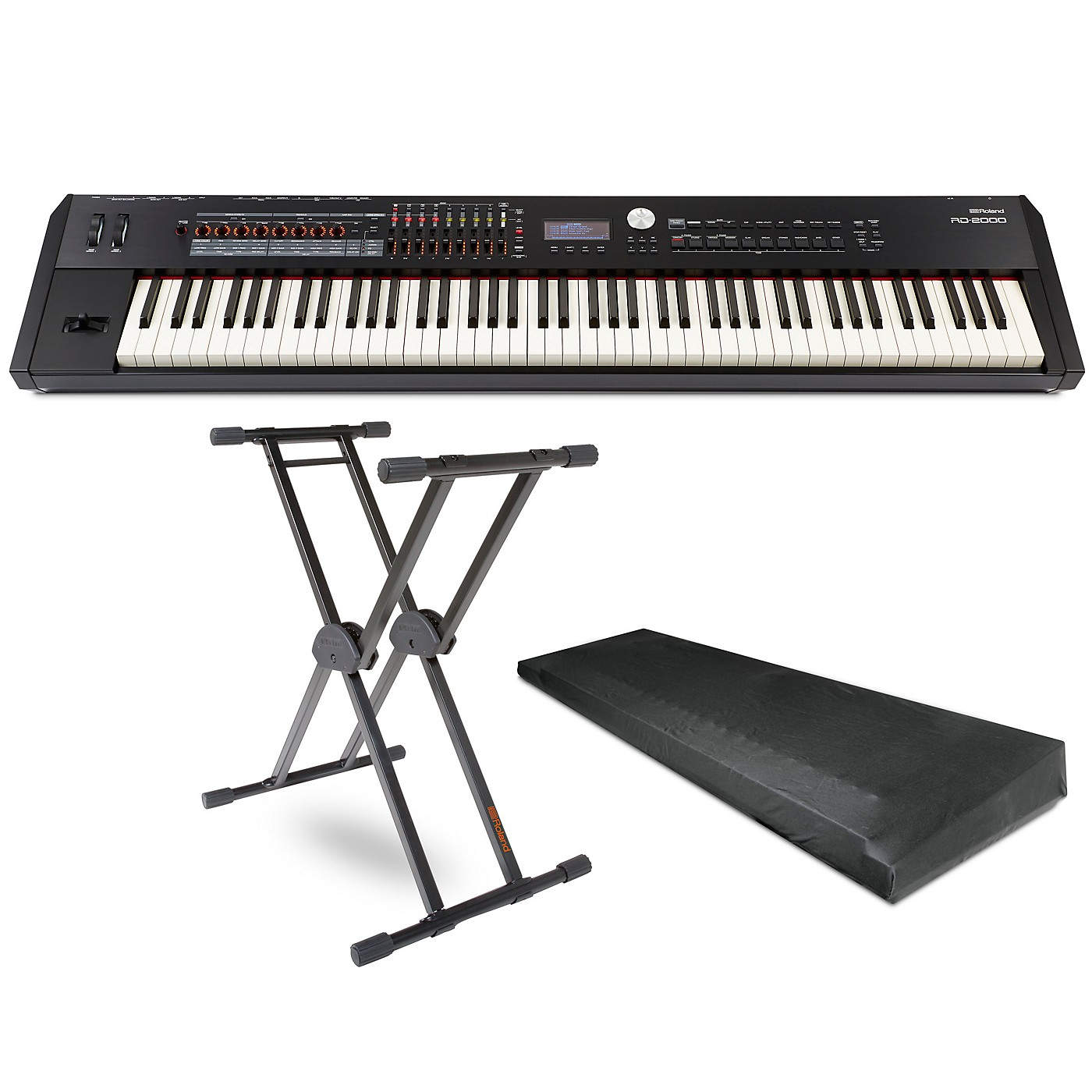Roland RD-2000 Digital Stage Piano, KS-20X Stand, and Dust Cover thumbnail