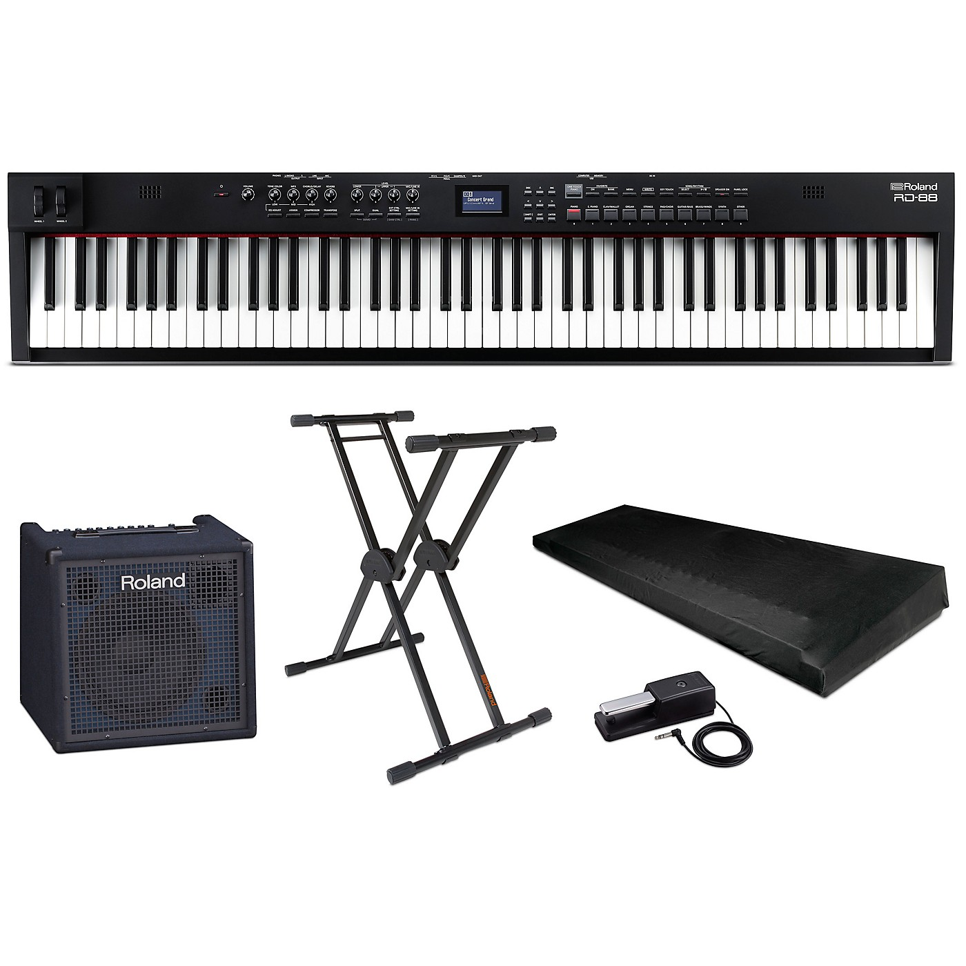 Roland RD-88 88-Key Stage Piano Complete Package thumbnail