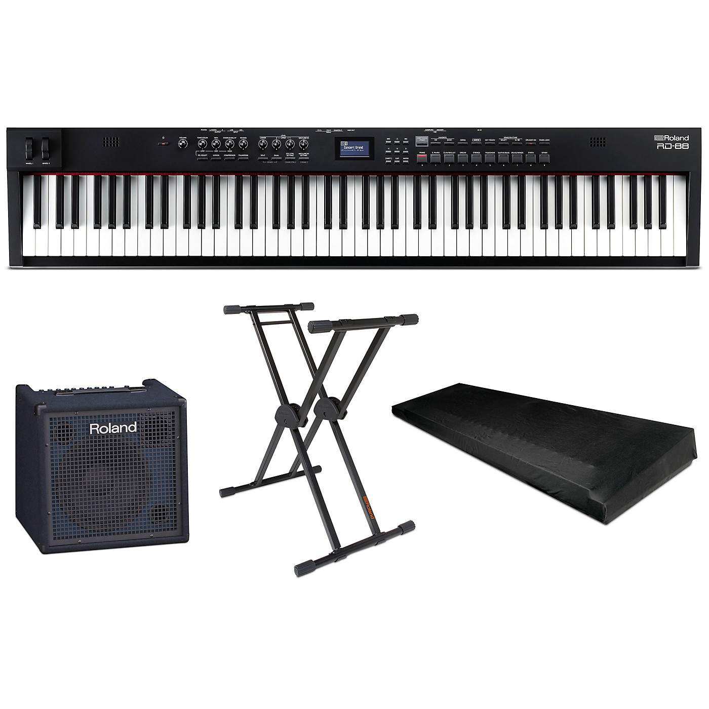 Roland RD-88 88-Key Stage Piano Essentials Package thumbnail