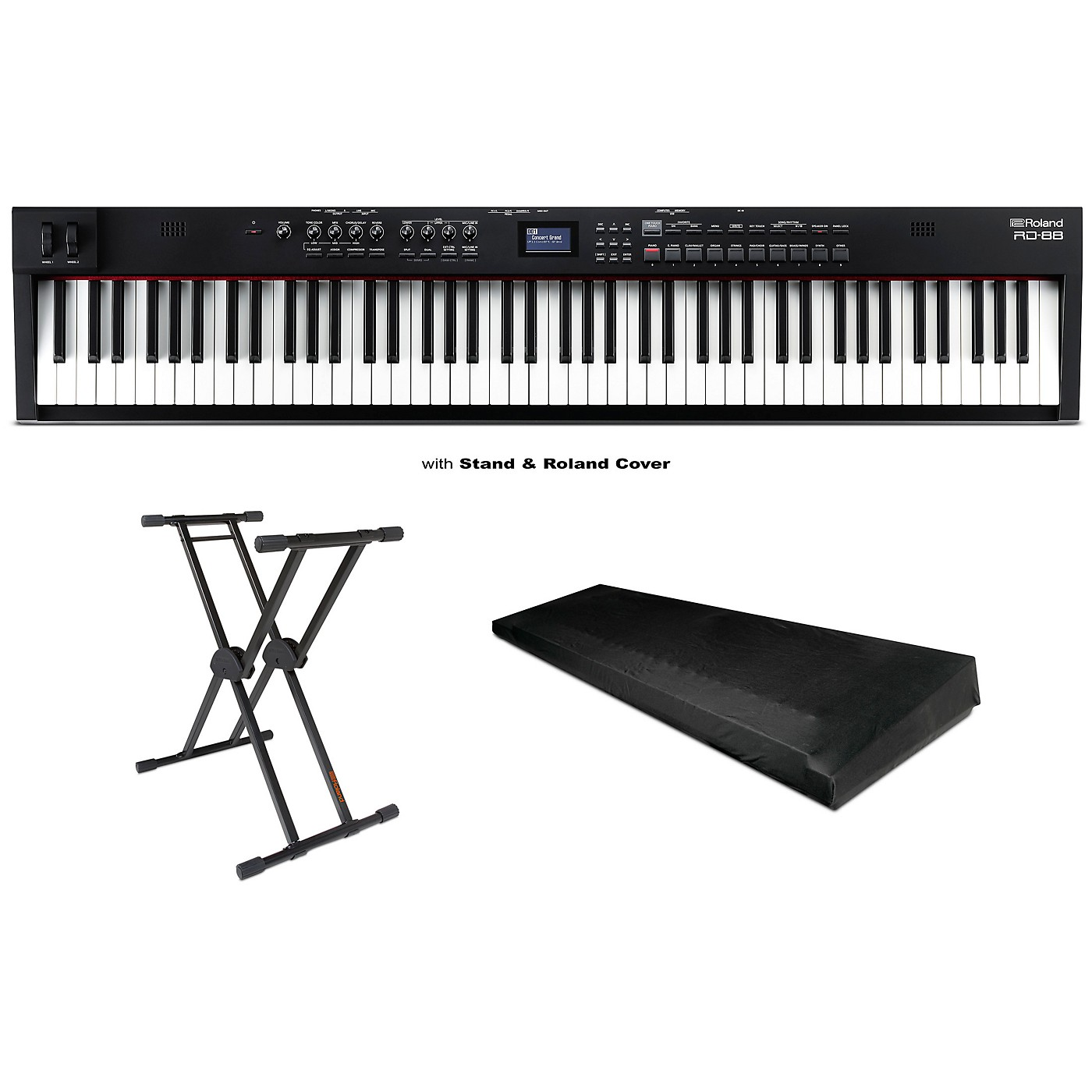 Roland RD-88 88-Key Stage Piano, KS-20X Stand and Dust Cover thumbnail