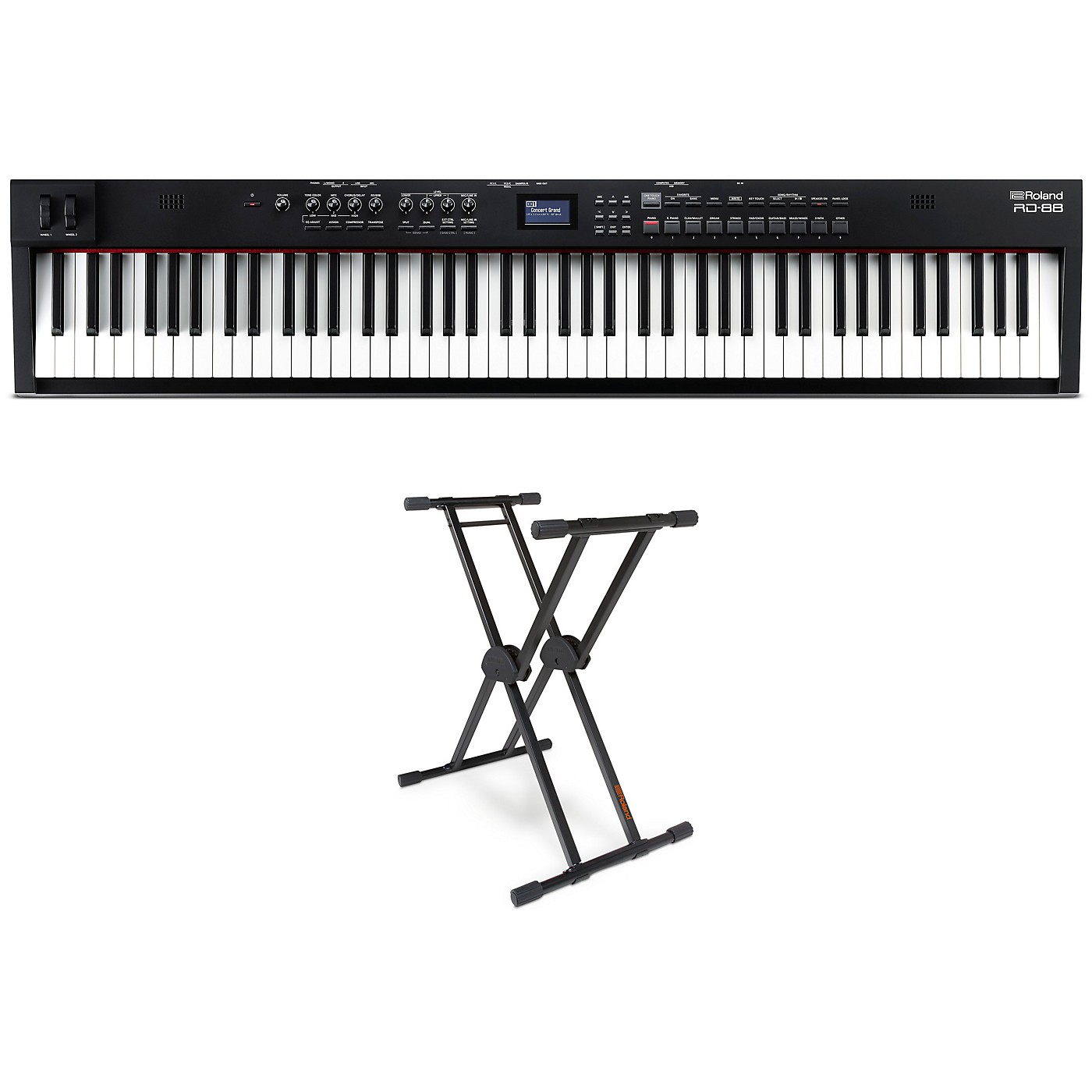 Roland RD-88 88-Key Stage Piano and KS-20X Stand thumbnail