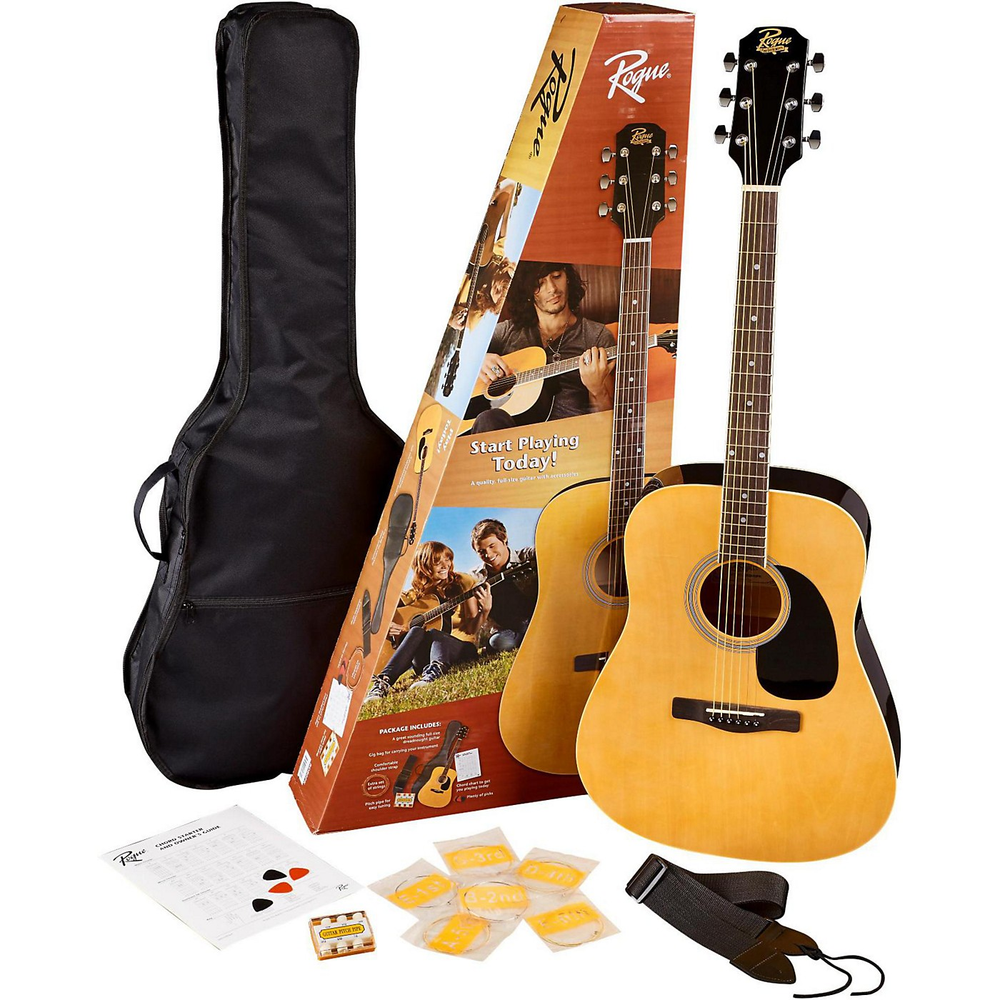 Rogue RD80PK Dreadnought Acoustic Guitar Pack thumbnail