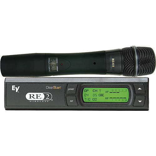 Electro-Voice RE2-410 Wireless System with RE410 Handheld Microphone-thumbnail