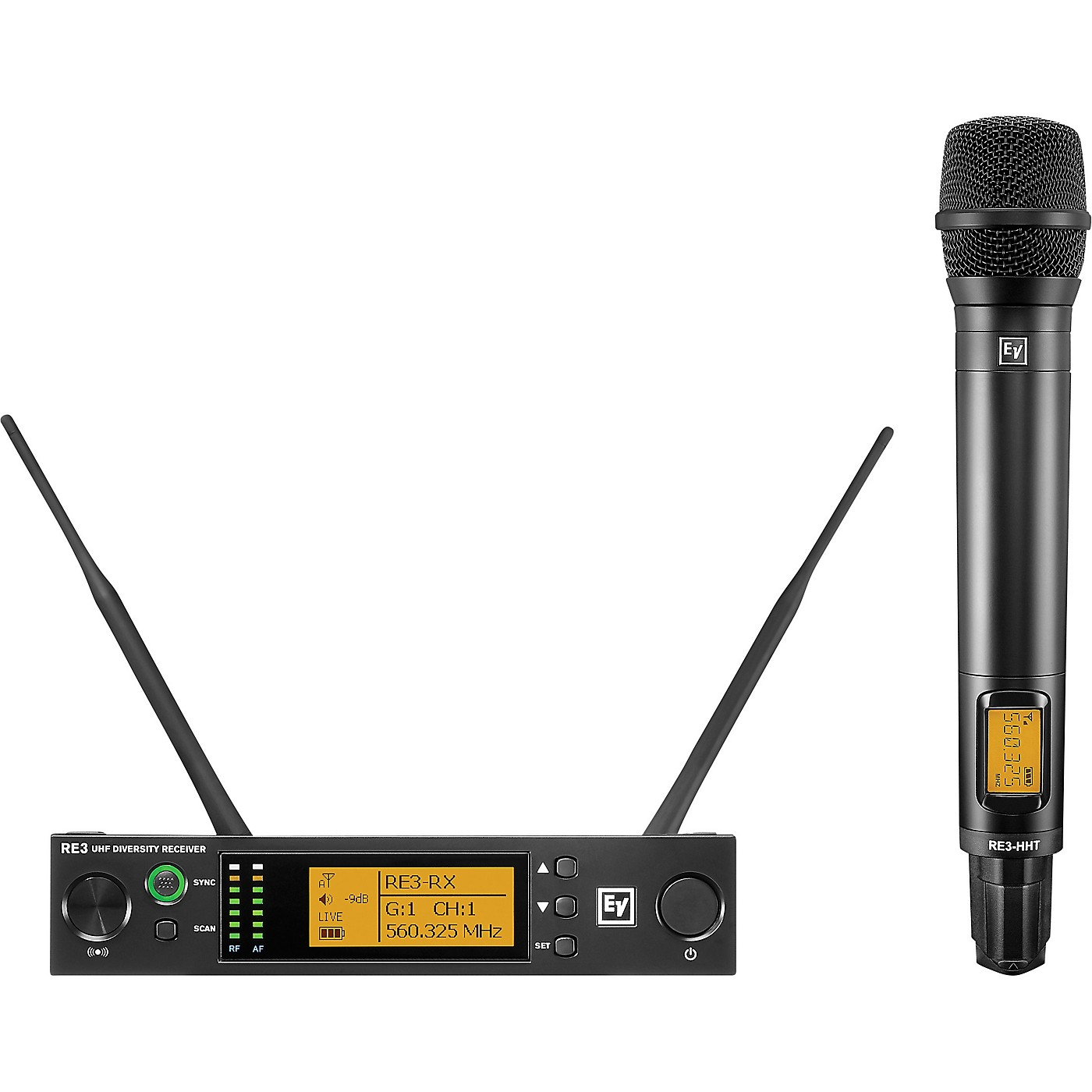 Electro-Voice RE3 Wireless Handheld Set with RE420 Dynamic Supercardioid Vocal Microphone Head 653-663MHz thumbnail