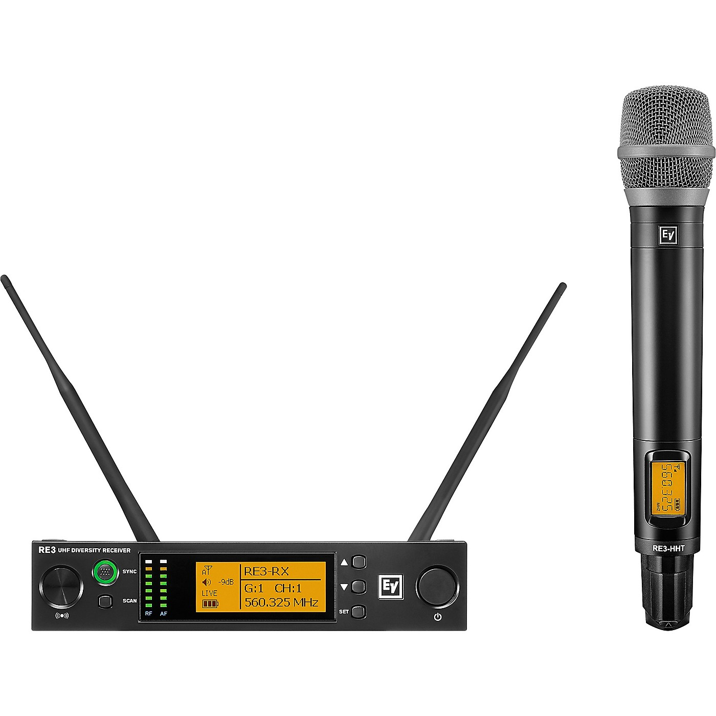 Electro-Voice RE3 Wireless Handheld Set with RE520 Condenser Supercardioid Vocal Microphone Head thumbnail