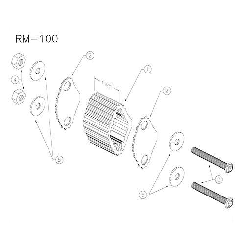 Yamaha RM100 Small Marching Quad Spacer thumbnail