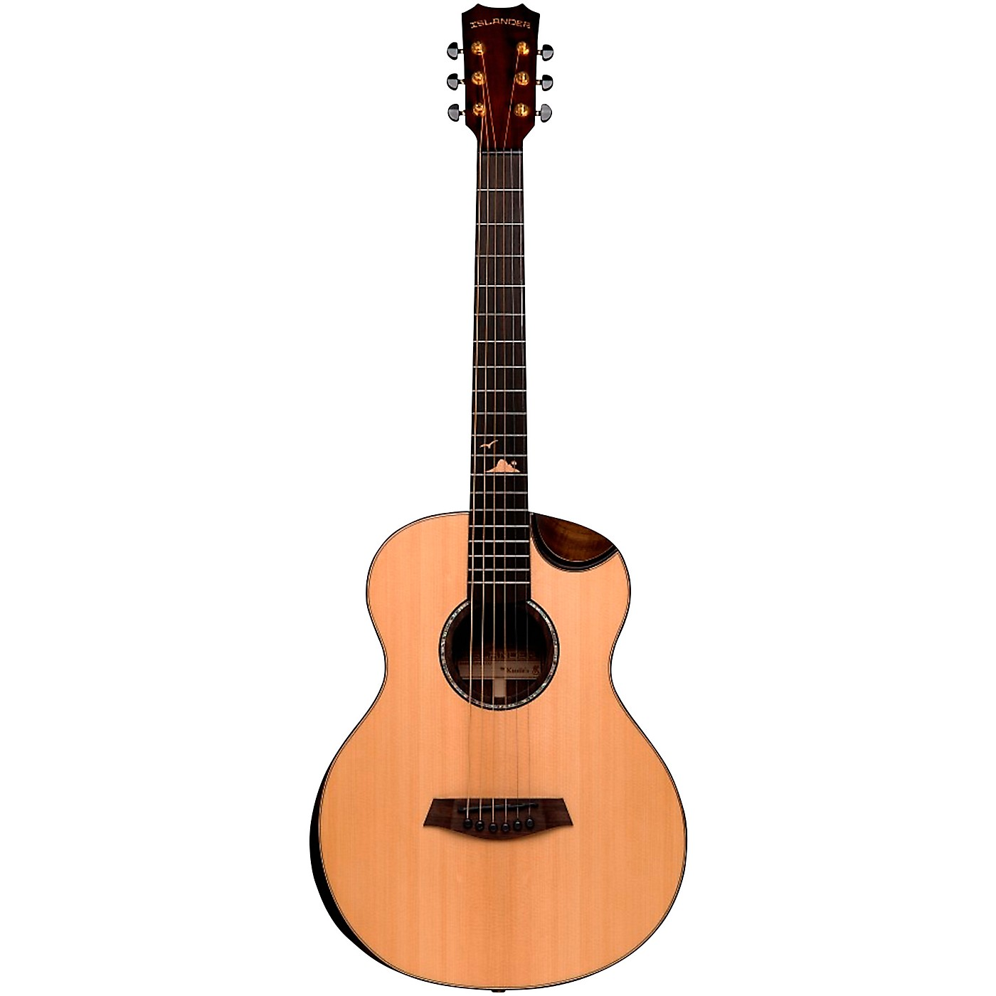 Islander RS-MG-EQ Deluxe Acacia Acoustic-Electric Mini Guitar thumbnail