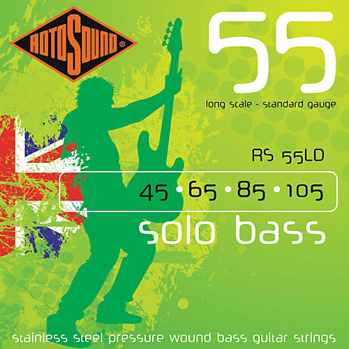 Rotosound RS55LD Solo Bass Stainless Steel Strings thumbnail