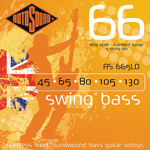 Rotosound RS665LD Roundwound 5-String Bass Strings thumbnail