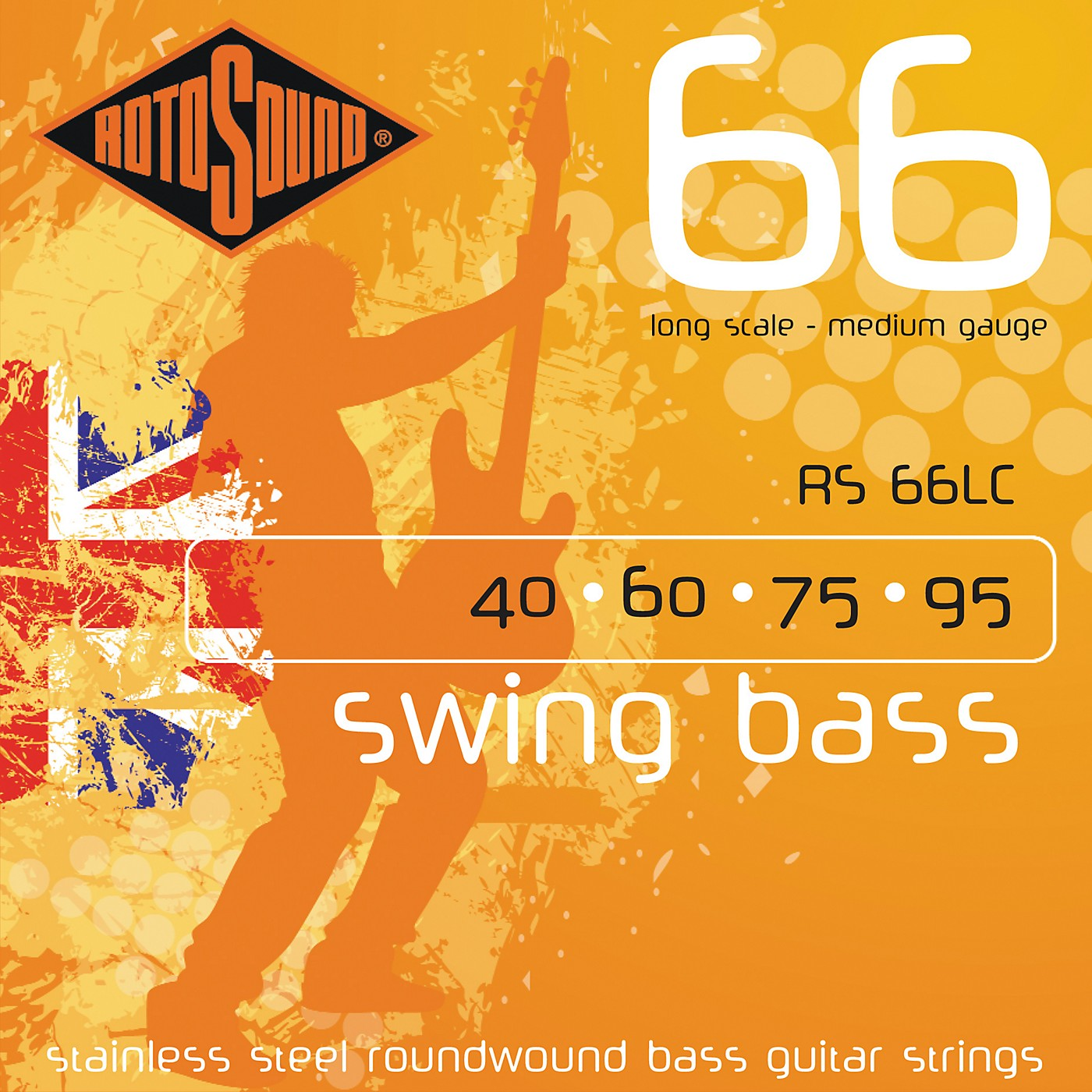 Rotosound RS66LC Long Scale Swing Bass Strings thumbnail