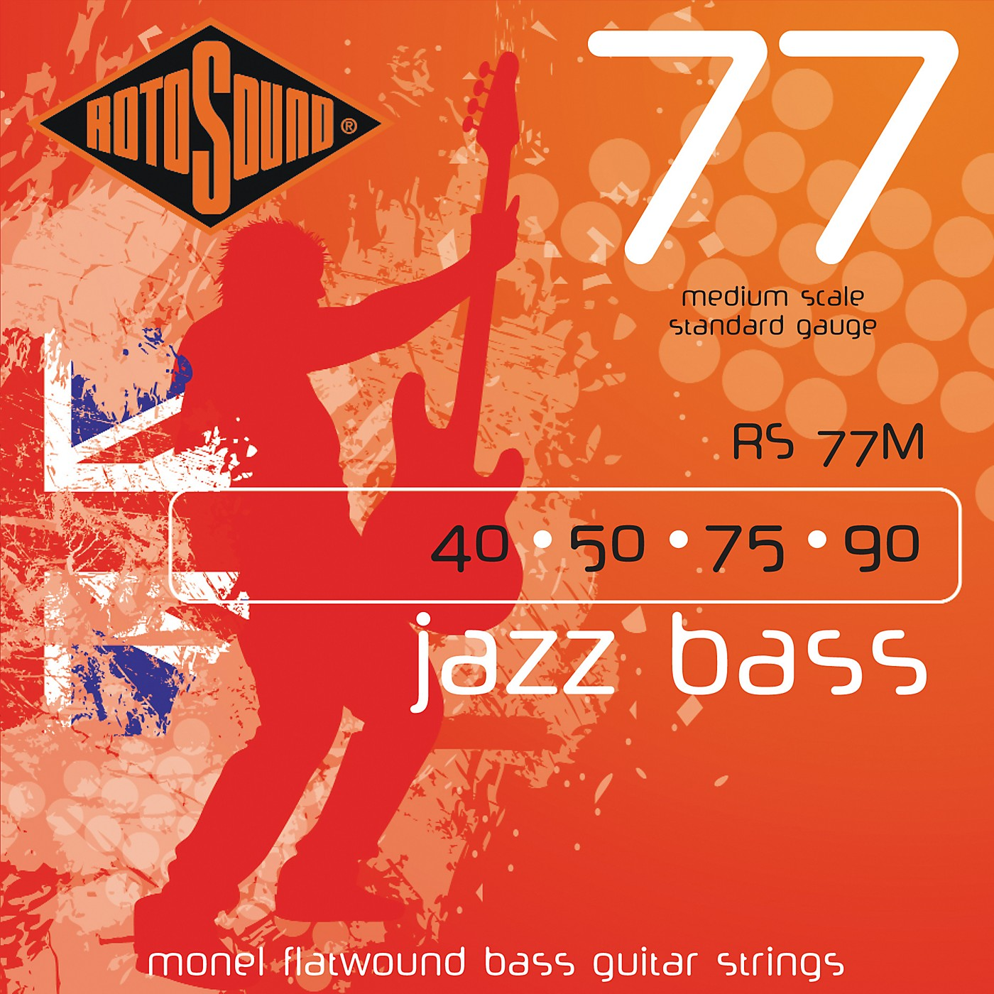 Rotosound RS77M Jazz Bass Monel Flat Wound Strings thumbnail