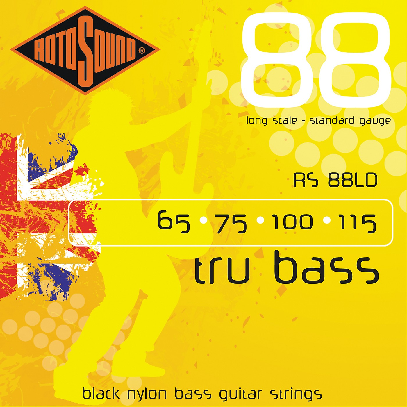 Rotosound RS88LD Trubass Black Nylon Flatwound Bass Strings thumbnail
