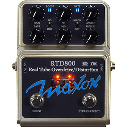 Maxon RTD800 Real Tube Overdrive and Distortion Guitar Effects Pedal thumbnail