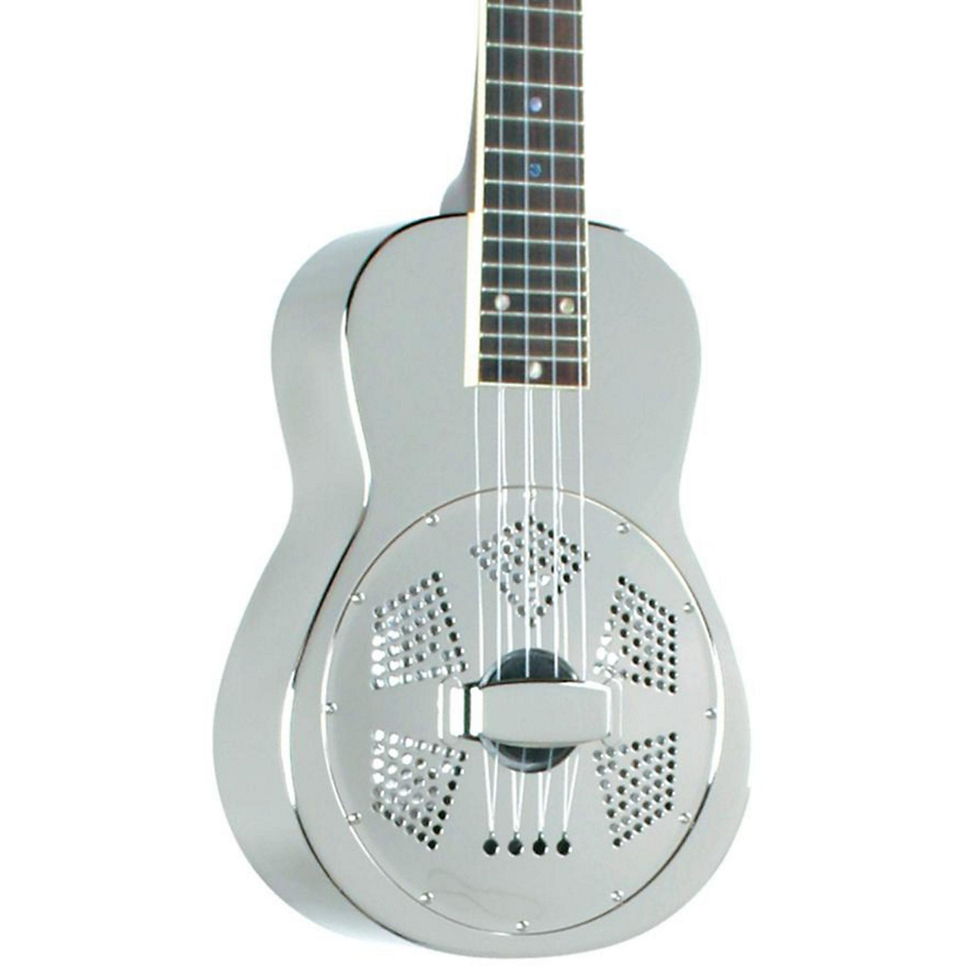 Recording King RU-998 Metal Body Resonator Ukulele Nickel-Plated thumbnail