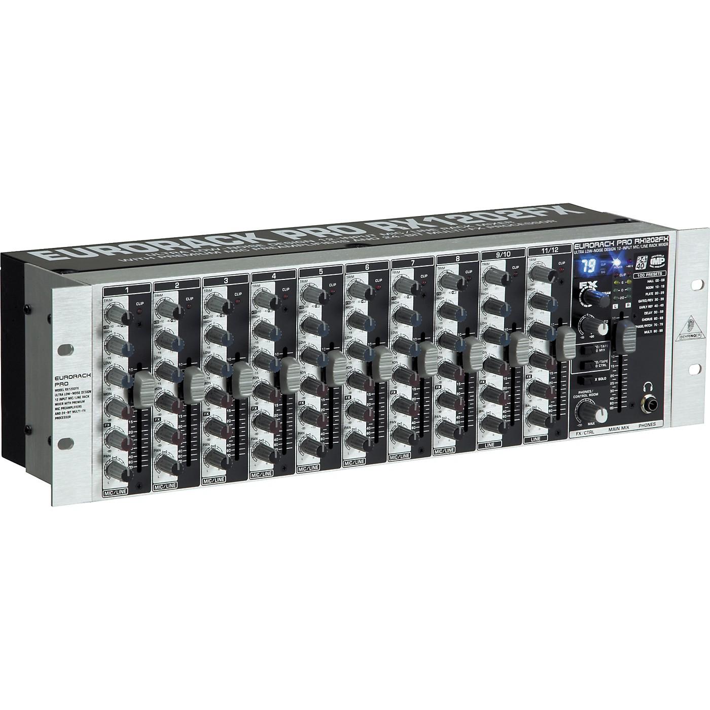 Behringer RX1202FX Eurorack Pro Rackmount 12-Input Mixer thumbnail