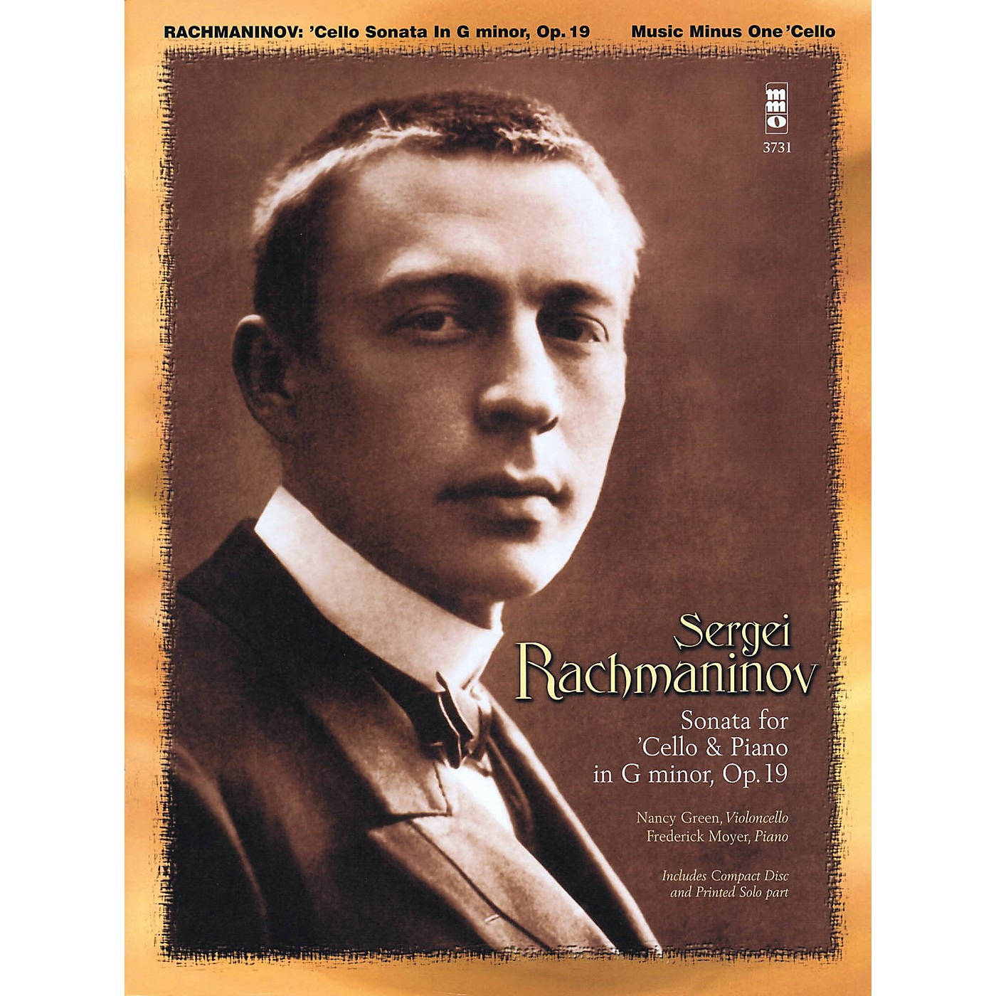 Music Minus One Rachmaninov - Sonata for Violoncello and Piano, Op. 19 Music Minus One Series Softcover with CD thumbnail
