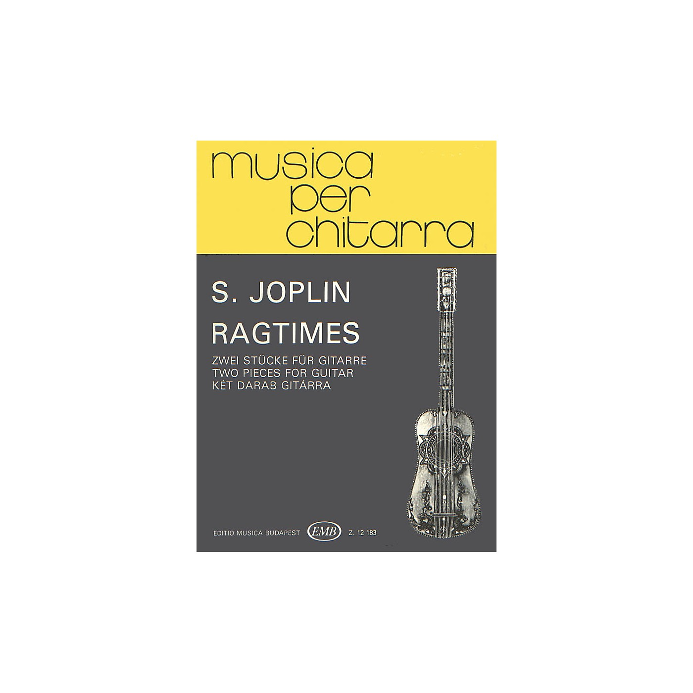 Editio Musica Budapest Ragtime. Two Pieces (Guitar Solo) EMB Series Composed by Scott Joplin thumbnail