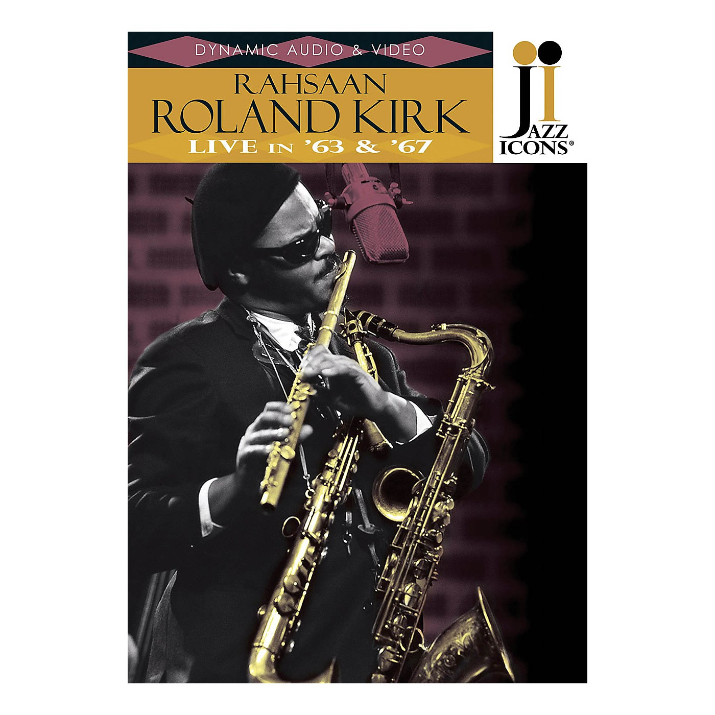 Jazz Icons Rahsaan Roland Kirk - Live in '63 & '67 (Jazz Icons DVD) Live/DVD Series DVD Performed by Roland Kirk thumbnail