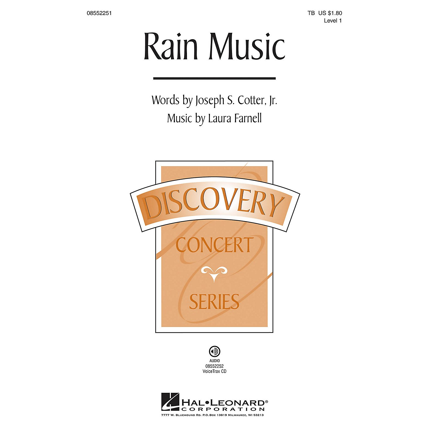 Hal Leonard Rain Music (Discovery Level 1) VoiceTrax CD Composed by Laura Farnell thumbnail