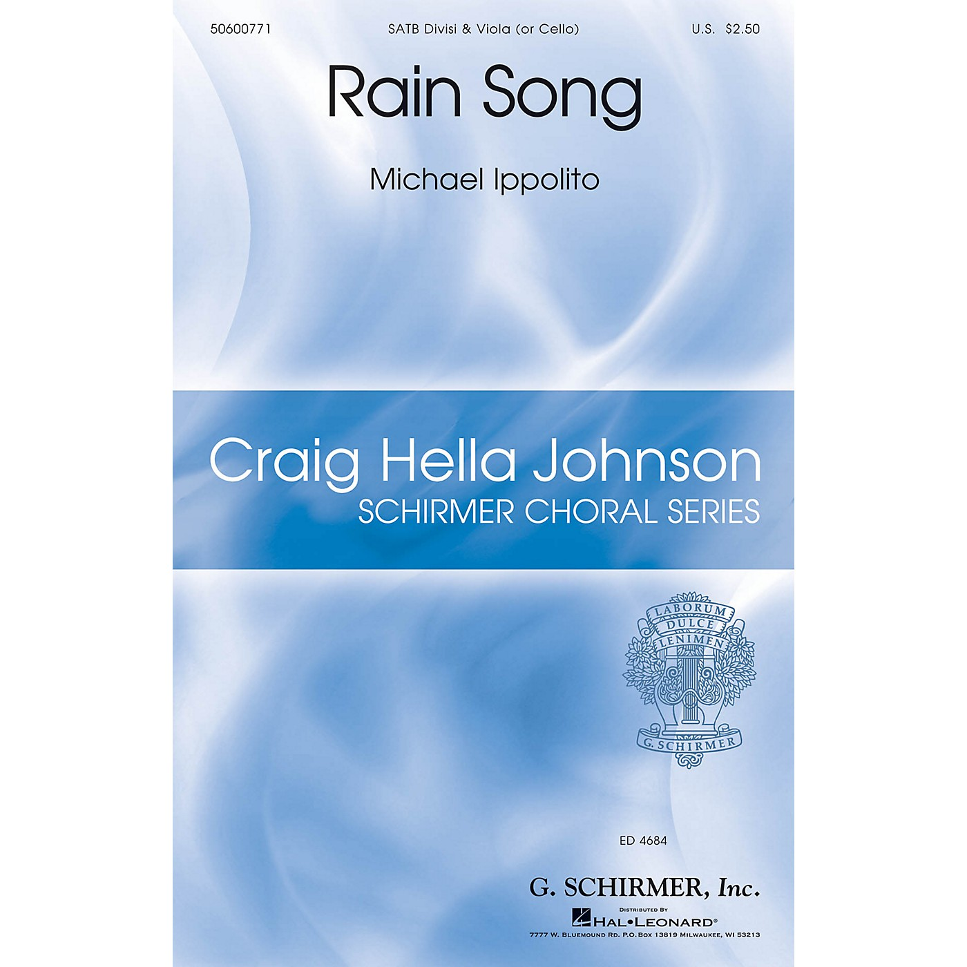 G. Schirmer Rain Song (Craig Hella Johnson Choral Series) SATB composed by Michael Ippolito thumbnail