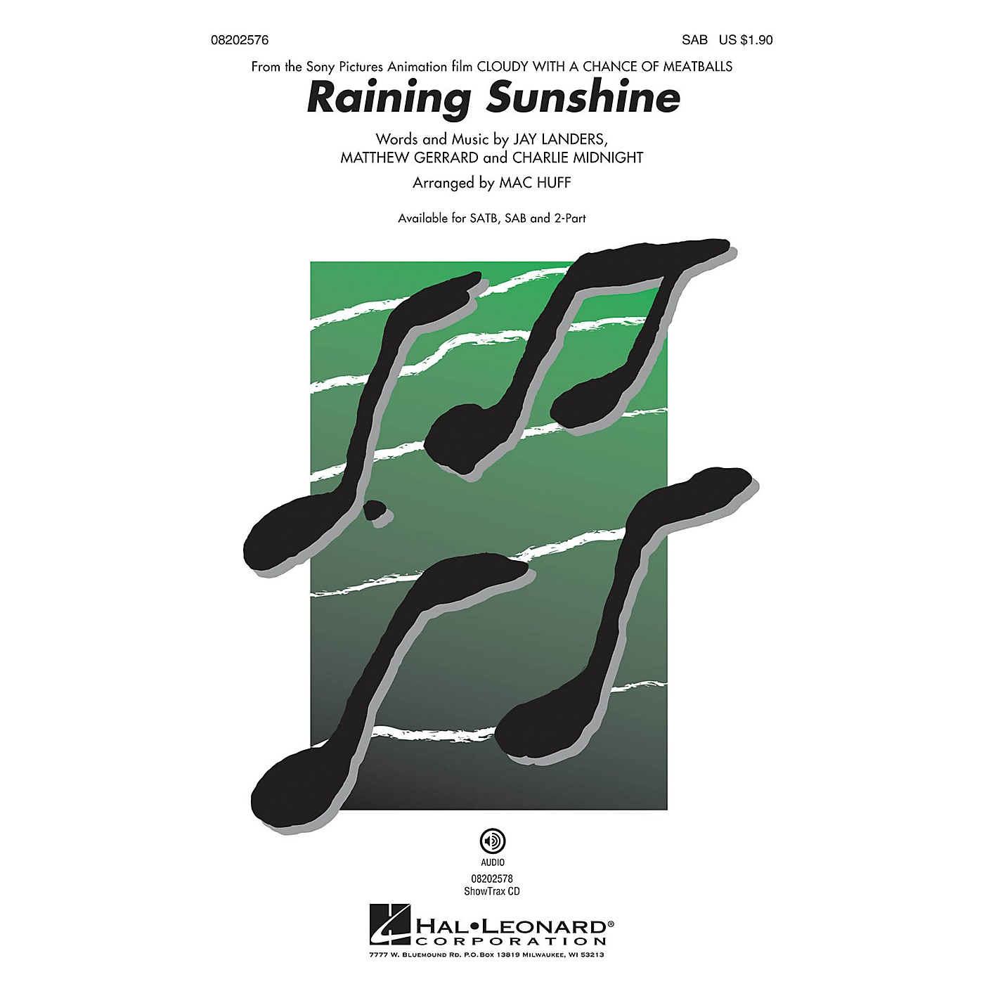 Hal Leonard Raining Sunshine (from Cloudy with a Chance of Meatballs) SAB by Amanda Cosgrove arranged by Mac Huff thumbnail