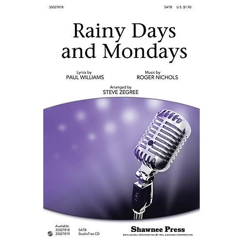 Shawnee Press Rainy Days and Mondays SATB by Carpenters arranged by Steve Zegree thumbnail