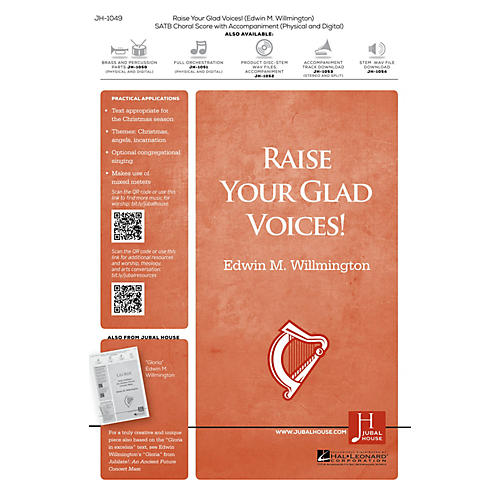 Jubal House Publications Raise Your Glad Voices! BRASS/PERCUSSION PARTS Composed by Edwin M. Willmington thumbnail