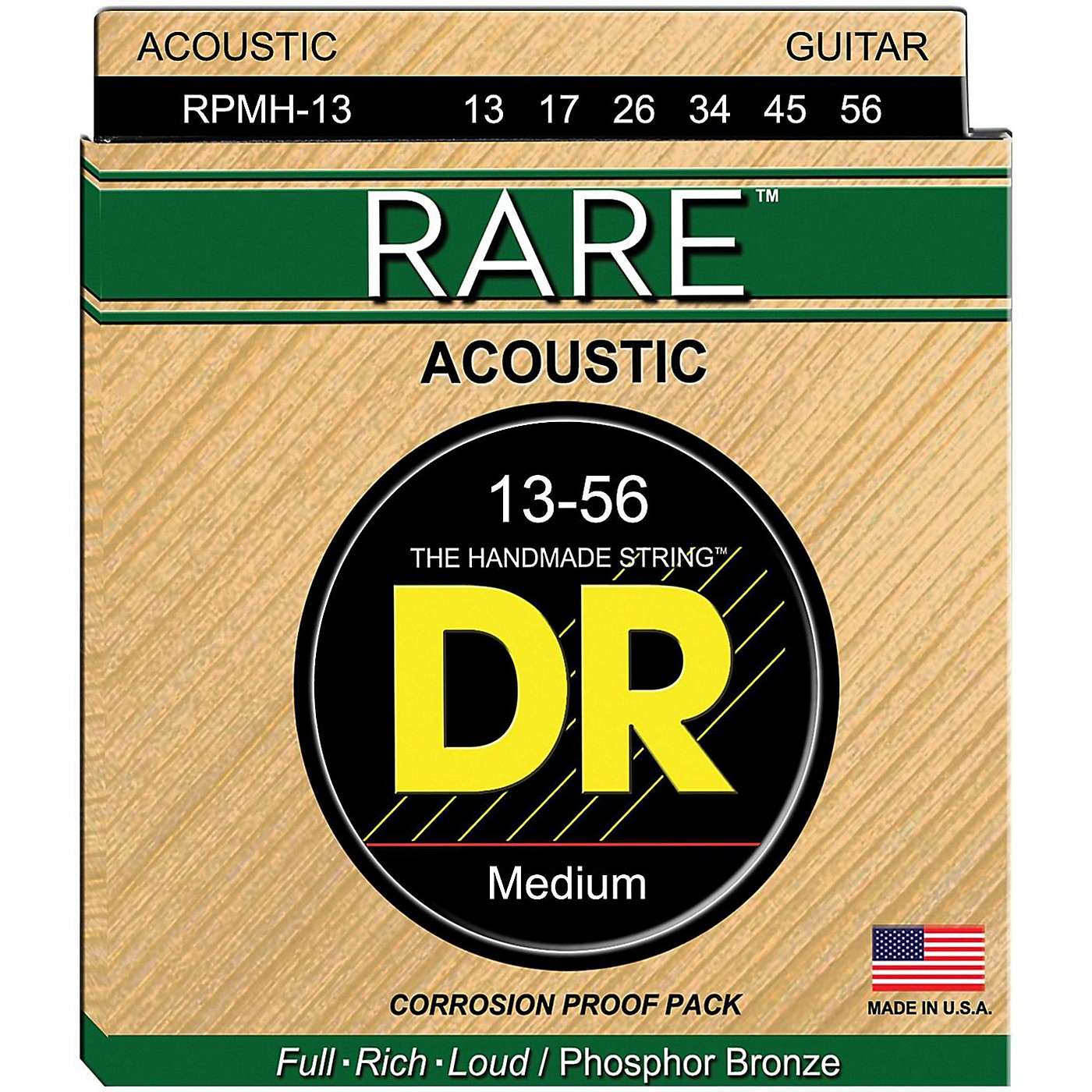 DR Strings Rare Phosphor Bronze Medium Heavy Acoustic Guitar Strings thumbnail