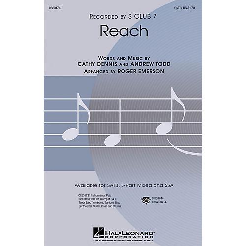 Hal Leonard Reach SATB by S Club 7 arranged by Roger Emerson thumbnail