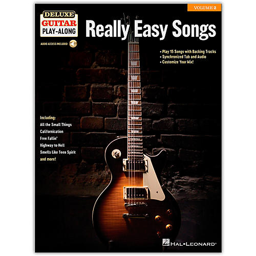 Hal Leonard Really Easy Songs Deluxe Guitar Play-Along Volume 2 Book/Audio Online thumbnail