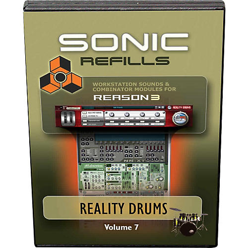 Sonic Reality Reason 3 Refills Vol. 07: Reality Drums thumbnail