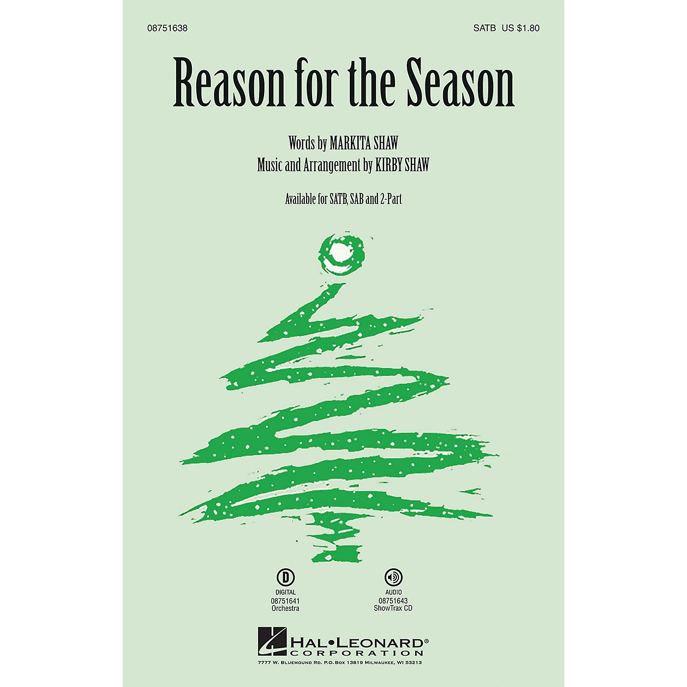 Hal Leonard Reason for the Season 2-Part Composed by Kirby Shaw thumbnail