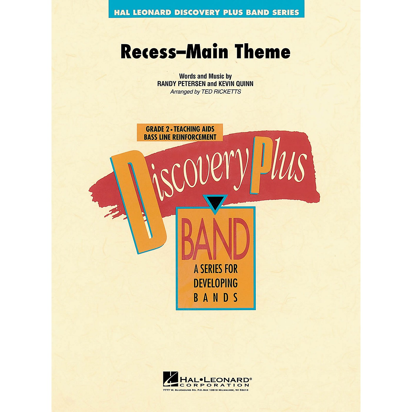 Hal Leonard Recess Main Theme - Discovery Plus Concert Band Series Level 2 arranged by Ted Ricketts thumbnail
