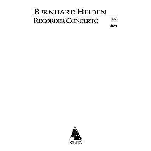 Lauren Keiser Music Publishing Recorder Concerto LKM Music Series by Bernhard Heiden thumbnail