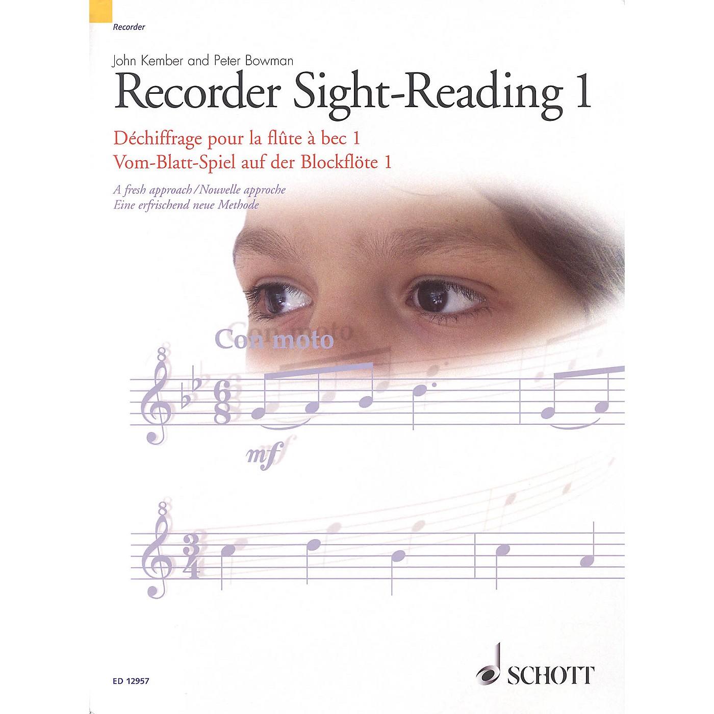 Schott Recorder Sight-Reading 1 Misc Series Written by John Kember thumbnail