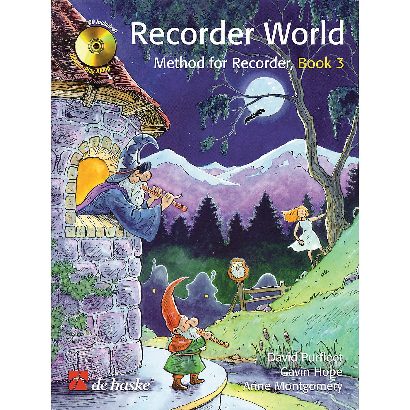 De Haske Music Recorder World - Book 3 (Method for Recorder) De Haske Play-Along Book Series Written by David Purfleet thumbnail