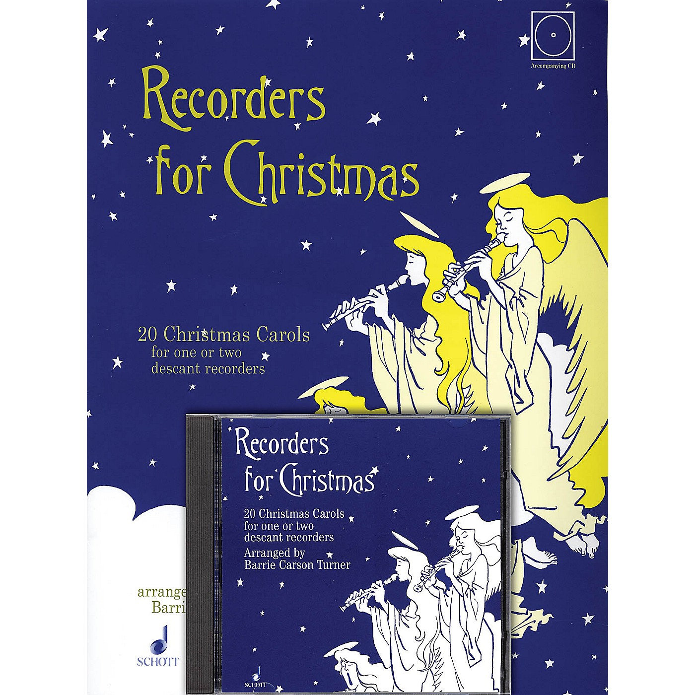 Schott Recorders for Christmas (20 Christmas Carols for One or Two Recorders) Schott Series Softcover with CD thumbnail