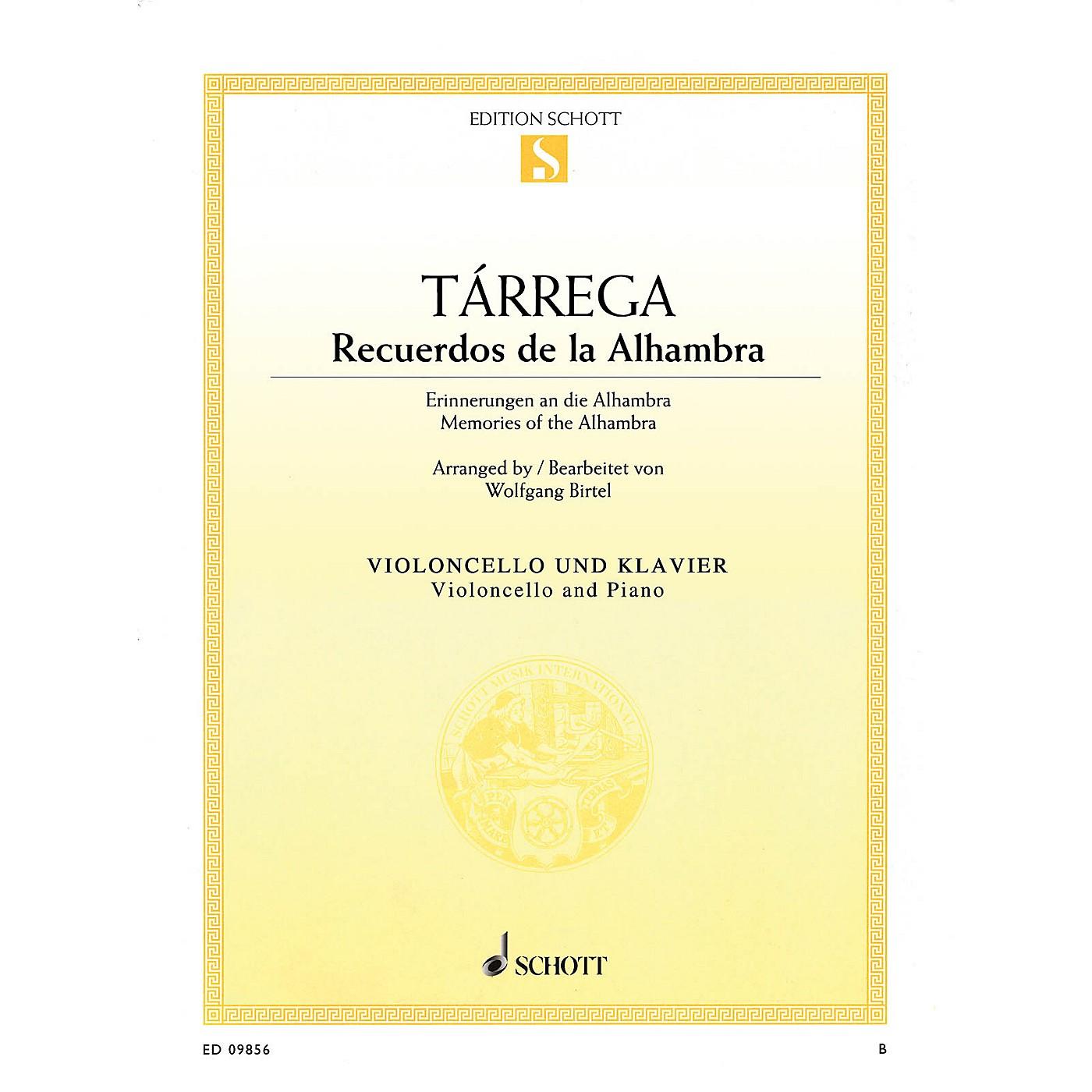 Schott Recuerdos de la Alhambra (Memories of the Alhambra) String Series Softcover Composed by Francisco Tárrega thumbnail