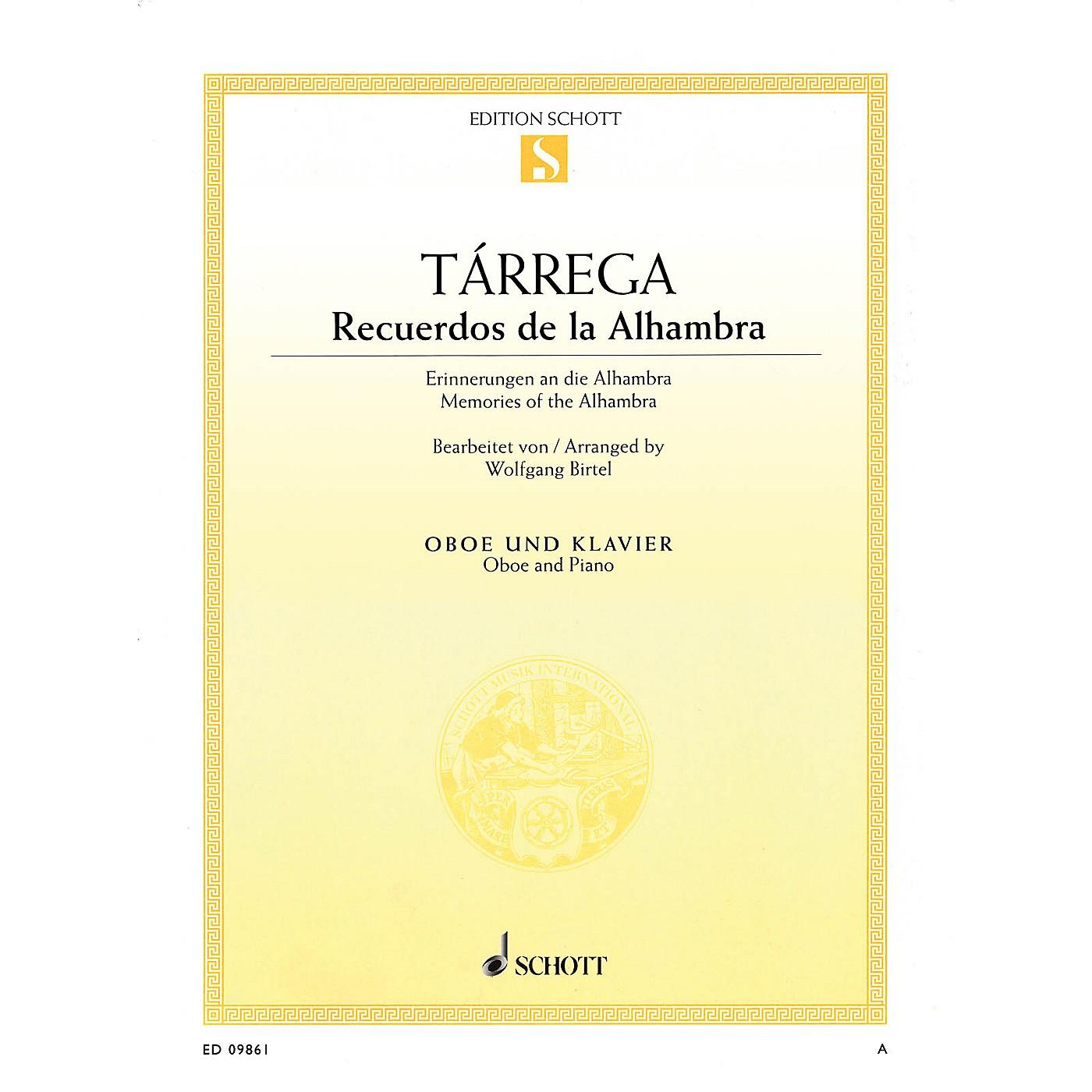 Schott Recuerdos de la Alhambra (Oboe and Piano) Woodwind Series thumbnail