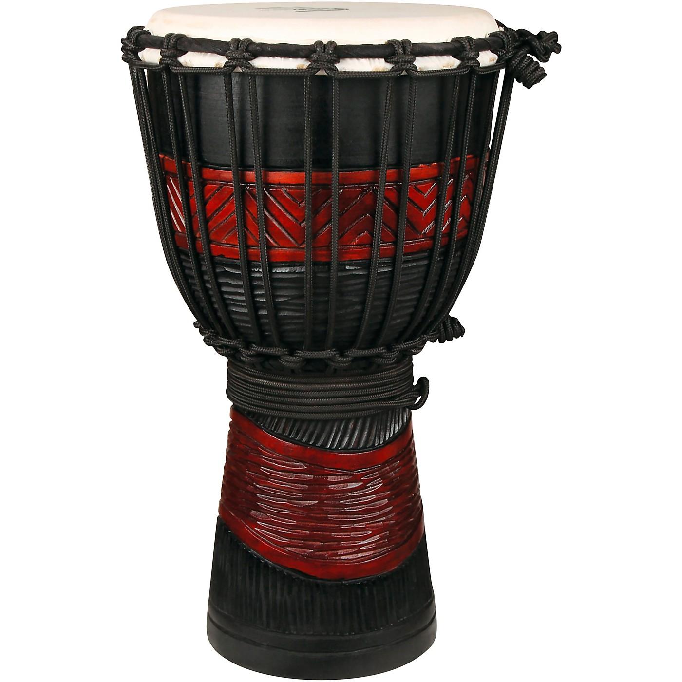 X8 Drums Red Black Djembe thumbnail