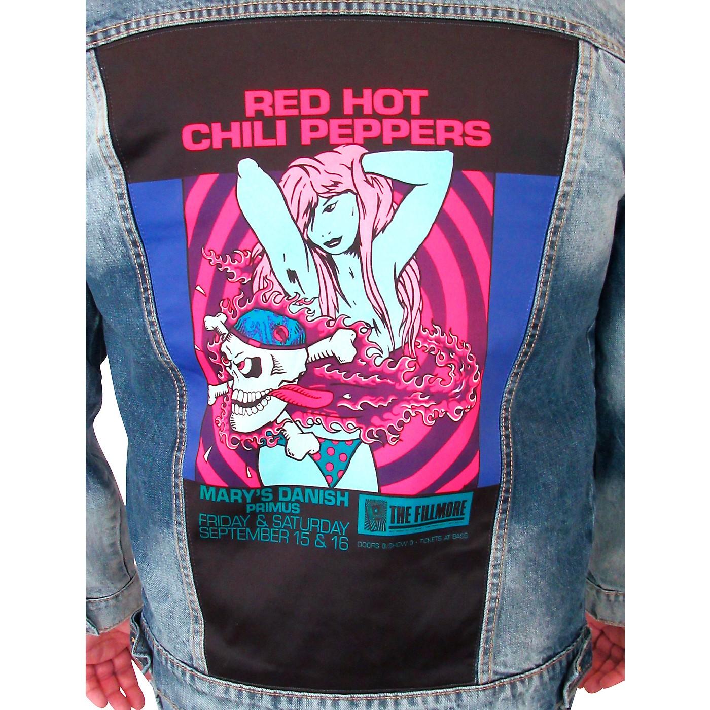 Dragonfly Clothing Red Hot Chili Peppers - Bikini Girl - Mens Denim Jacket thumbnail