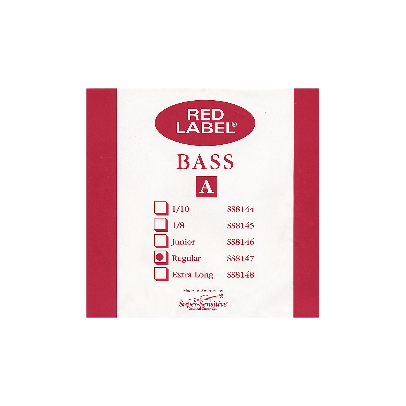 Super Sensitive Red Label 3/4 Size Double Bass Strings thumbnail